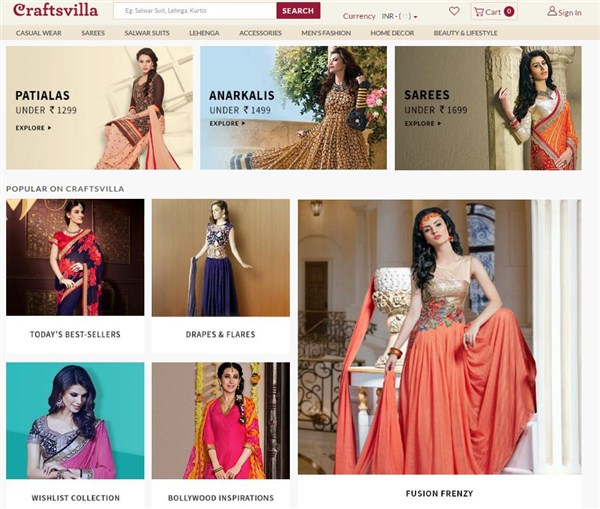 Online-E-Shopping-Sites-CraftsVilla